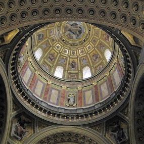 Dome of St. Stephen's Basilica by Dennis  Ng - Buildings & Architecture Other Interior (  )