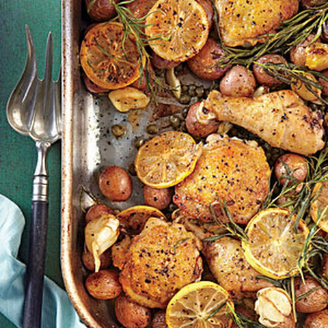 Lemon-Rosemary-Garlic Chicken and Potatoes