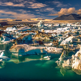 Jökulsárlón by Stanley P. - Landscapes Waterscapes (  )