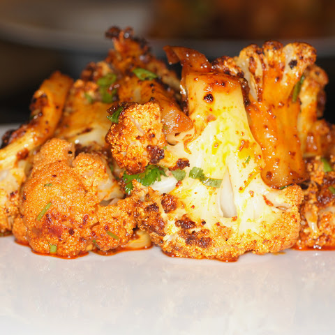 Roasted Cauliflower with Red Chile, Cilantro & Lime