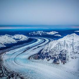 Aerial View by Rafi SM - Landscapes Mountains & Hills ( glacier, mountains, denali, ice, alaska, snow, aerial )