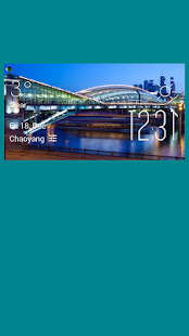 Moscow weather widget/clock - screenshot