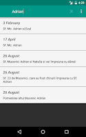 Screenshot of Calendar Ortodox Simplu