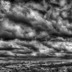 a storm brewing by Mark Shepherdson - Landscapes Cloud Formations ( pwcbwlandscapes )