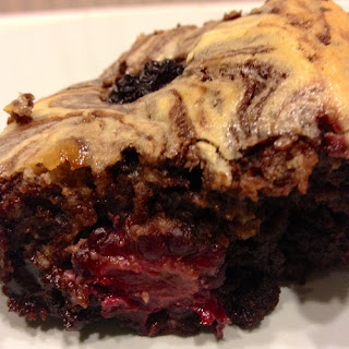 Blackberry Cheesecake Swirl Brownies