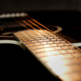 Guitar, Close Details by Jon Eggen - Artistic Objects Musical Instruments ( six string, accoustic gitar, guitar )
