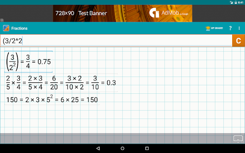 Fraction Calculator + Math Screenshot