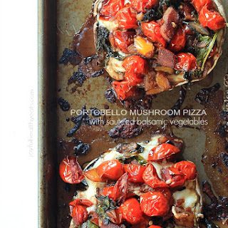 Portobello Mushroom Pizza with Sautéed Balsamic Vegetables
