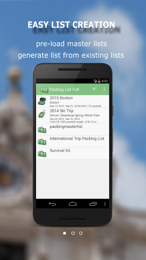 Packing List - Full - screenshot