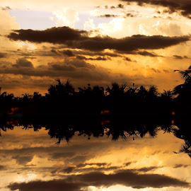 Mirror on the Lake by Mrinmoy Ghosh - Landscapes Cloud Formations (  )