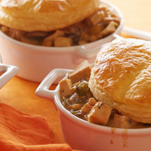 Creamy Chicken and Mushroom One-Pot with Pot Pie Toppers