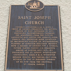 Read the Plaque - St. Joseph Gretna