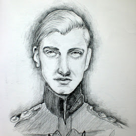 Eyes That Have Seen Too Much by Natasha Rupert - Drawing All Drawing ( pencil, sketch, uniform, man, drawing, military )
