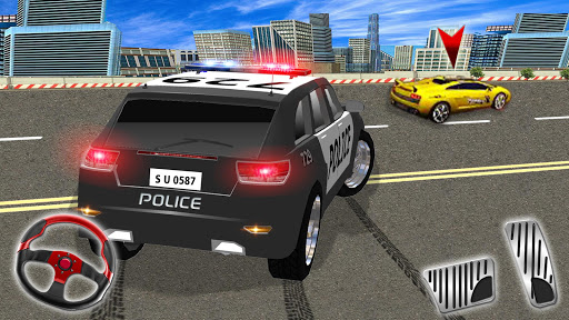 Police Highway Chase in City - Crime Racing Games screenshot 1