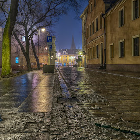 by Mike Allen - City,  Street & Park  Night