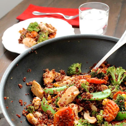 Cashew Chicken Quinoa Stir Fry