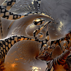 Enchanted Ambition by Rick Eskridge - Illustration Abstract & Patterns ( abstract, fantasy, mb3d, fractal, twisted brush )