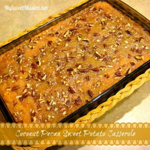 Coconut Pecan Sweet Potato Casserole