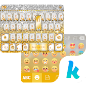 Golden Bow Kika Keyboard Theme APK baixar