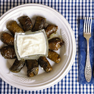 Stuffed vine leaves (Sarma or Dolmades gialantzi)