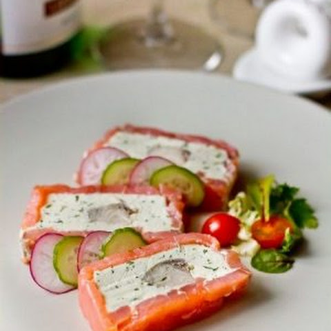 Terrine Of Red And White Fish With Cream Cheese