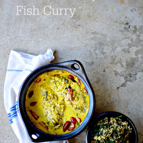 Sri Lankan-style Fish Curry with Green Rice
