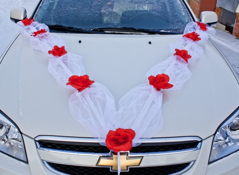 Украшение свадебных машин лентами мастер класс