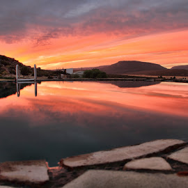 Dawn swimming by Ant West - Landscapes Sunsets & Sunrises ( reflection, sky, dawn, swimming pool, sunrise )