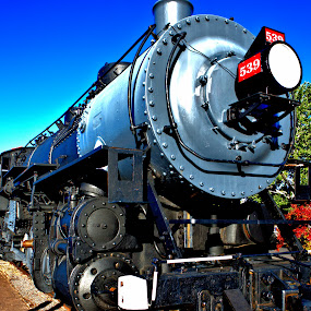 Engine 539 by Cal Brown - Transportation Trains ( railroad, locomotive, arizona, train, transportation, grand canyon,  )