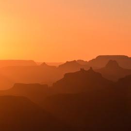 Sunset at Grand Canyon by Sandra Maldonado - Landscapes Sunsets & Sunrises