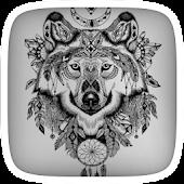 Cool Iron Wolf Theme APK for Bluestacks