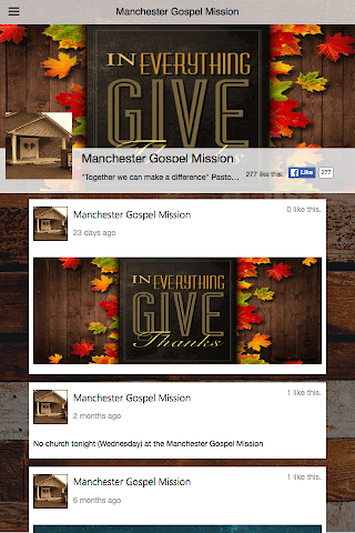 android Manchester Gospel Mission Screenshot 1
