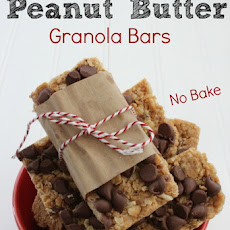 Homemade Peanut Butter Granola Bars