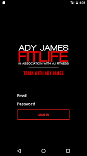 ADY JAMES FITLIFE Fitness app screenshot for Android