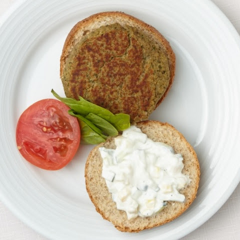 Garam Masala Quinoa Burger with Raita