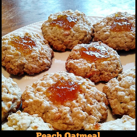 Easy Peach Oatmeal Thumbprint Cookies