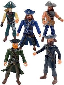 """Набор фигурок """"Пираты Рыжая борода, Роджер, Скелет, Уильям и Черная борода"""""""