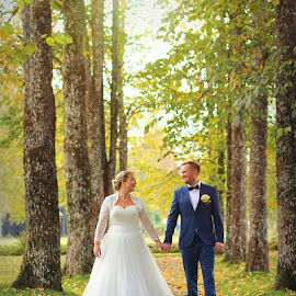 by Jane Bjerkli - Wedding Bride & Groom
