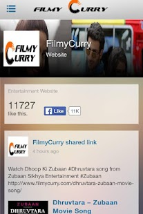 FilmyCurry - Hot Bollywood App - screenshot