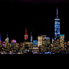 Manhattan by Frank DeChirico - Buildings & Architecture Office Buildings & Hotels