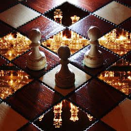 Two level chess by Peter Salmon - Artistic Objects Other Objects ( pieces, squares, chess, light, boards )