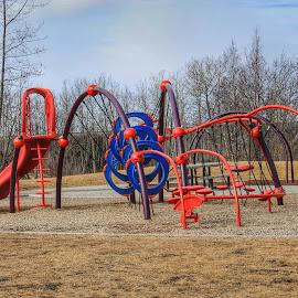 Westchester Park by Patricia Phillips - City,  Street & Park  City Parks ( alaska anchorage parks westchester )