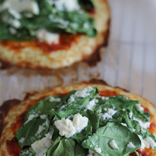 Spinach and Ricotta Cauliflower Crust Pizza