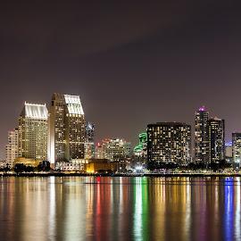 San Diego From Coronado  by Anderson Lindblom - City,  Street & Park  Skylines ( water, san diego, skyline, california, bayside )