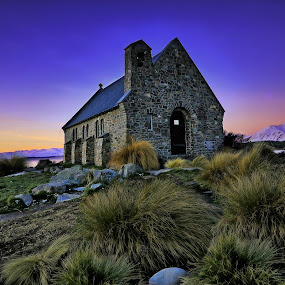 Church of Good Shepherd by Jomy Jose - Buildings & Architecture Places of Worship ( south island, church, astro church, lake tekapo, new zealand, church of good shepherd )