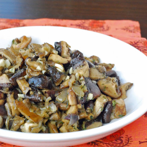Sauteed Wild Mushrooms … and I'm back!