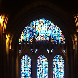 by Shirley Hayes - Buildings & Architecture Places of Worship ( colourful, window, liverpool, cathedral, stained glass )