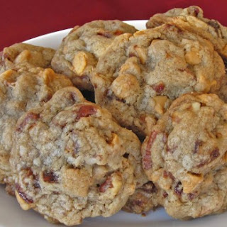 Brown Butter Pecan Cookies with Caramelized Bacon Bits