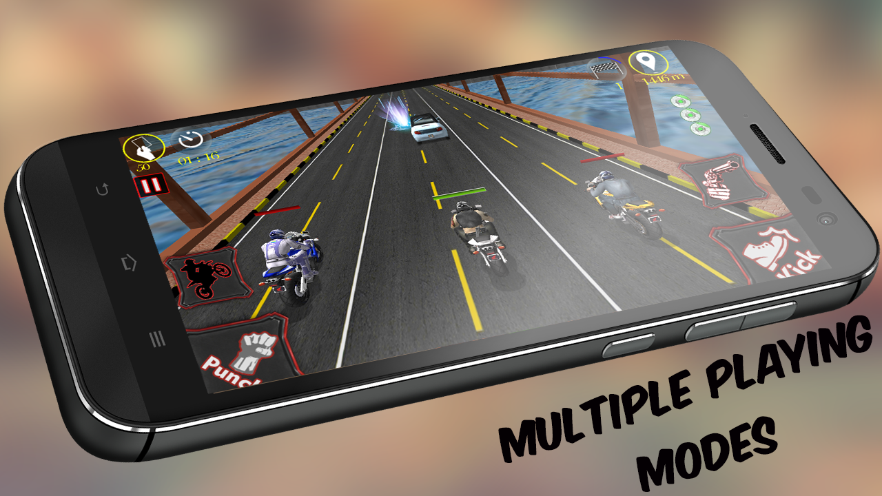 Bike Race Fighter (PRO) No Ads Screenshot