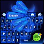 Glow Blue GO Keyboard Theme Icon